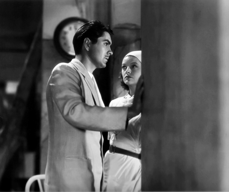 Tyrone Power,Myrna Loy-1939-The Rains Came
